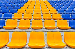 Row of plastic seats Royalty Free Stock Images