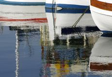 Row of pleasure boats Royalty Free Stock Photo