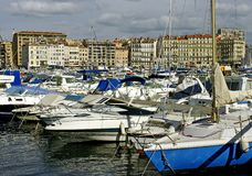 Row of pleasure boats Stock Image