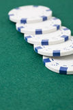 Row of poker chips Royalty Free Stock Photo