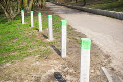 Row of poles Stock Photography