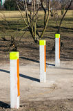 Row of poles Royalty Free Stock Images