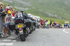 Row of Police Bikes - Tour de France 2014 Stock Images
