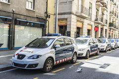 Row of police cars Stock Photography