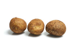 Row of Potatoes Royalty Free Stock Photos