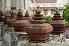 Row pottey. Row pottery in temple thailand Royalty Free Stock Image