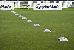 Row of Practice Balls - Taylormade Royalty Free Stock Photo