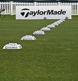 Row of Practice Balls - Taylormade Stock Image