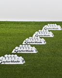 Row of Practice Balls - Taylormade Royalty Free Stock Photos