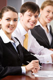 Row of professionals Royalty Free Stock Photo