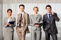 Row of professionals Stock Photo