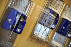 Row of public telephones Royalty Free Stock Photos