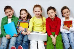 Row of pupils Royalty Free Stock Photos