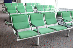 Row of purple chair at airport Royalty Free Stock Photo