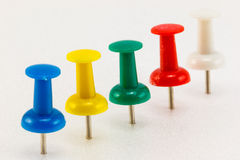 Row of push pins Stock Photography