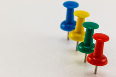 Row of push pins Royalty Free Stock Photography