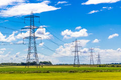 Row of Pylons Royalty Free Stock Photos