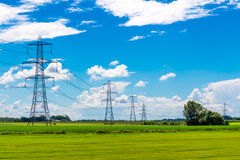 Row of Pylons Royalty Free Stock Photo