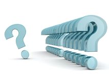 Row of question marks with one outstanding Stock Images