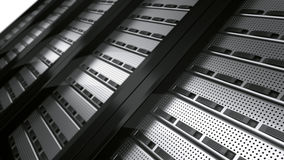 Row of rack servers Stock Images