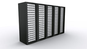 Row of rack servers Royalty Free Stock Photography
