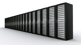 Row of rack servers Royalty Free Stock Photo