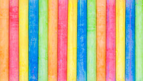 Row of rainbow chalk background. Row of rainbow colored chalk background Stock Images