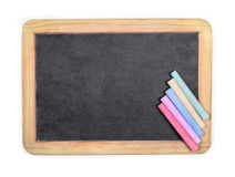 Row of rainbow colored chalk Royalty Free Stock Photos