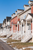 Row of Recently Built Townhouses Royalty Free Stock Image