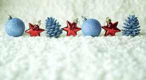 Row of red and blue decoration Royalty Free Stock Image