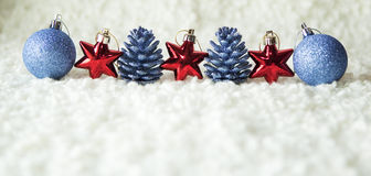 Row of red and blue decoration elements Stock Images