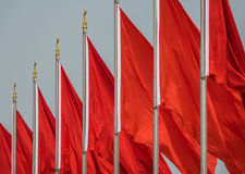 Red flags Royalty Free Stock Photography