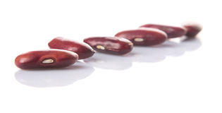 Row Of Red Kidney Beans VII Stock Photos