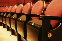 Row of red seat Royalty Free Stock Images
