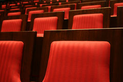 Row of red seatings Stock Photography