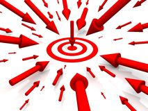 Row Red target Stock Photography