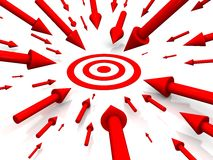 Row Red target Stock Photo