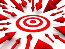 Row Red target Royalty Free Stock Photo
