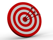 Row Red and White target Stock Photography