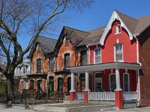 Victorian houses with gables Stock Images