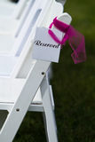 Row of reserved seats Stock Photo