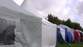 Row of retail tents Stock Images