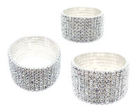 8 Row Rhinestone Cuff Bracelet Royalty Free Stock Photos