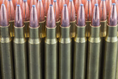 Row of rifle ammo Royalty Free Stock Image