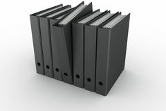 Row of ring binders Royalty Free Stock Photography