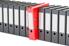 Row from ring binders, 3D rendering Royalty Free Stock Photography