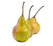 Row of ripe yellow pears Royalty Free Stock Photos