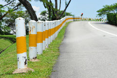 A Row Of Road Bollards Royalty Free Stock Photos