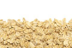 Rolled oats isolated on white background royalty free stock photos