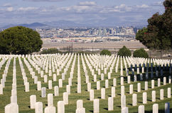 Rosecrans Military Cemetery, California Stock Photos